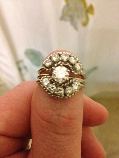 My grandmother's ring (dad's side). I'm gonna hock it and buy a ticket to Brazil. lol.