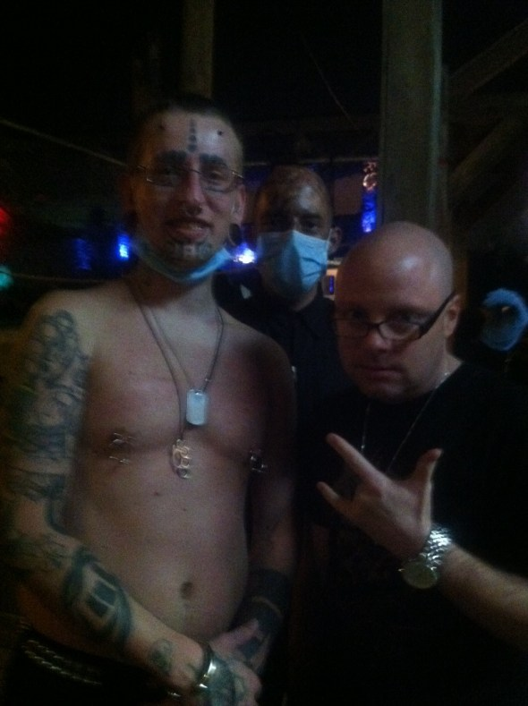 me, mike and guido from Pain Tribe. they're actually very nice guys.