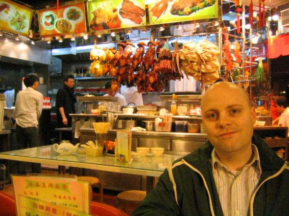 at my favorite BBQ in hong kong's wan-chai district. to this day, i could find it.
