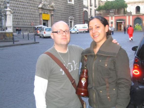 me and jossi. piazza gesu. napoli. we are FANTASTICO.
