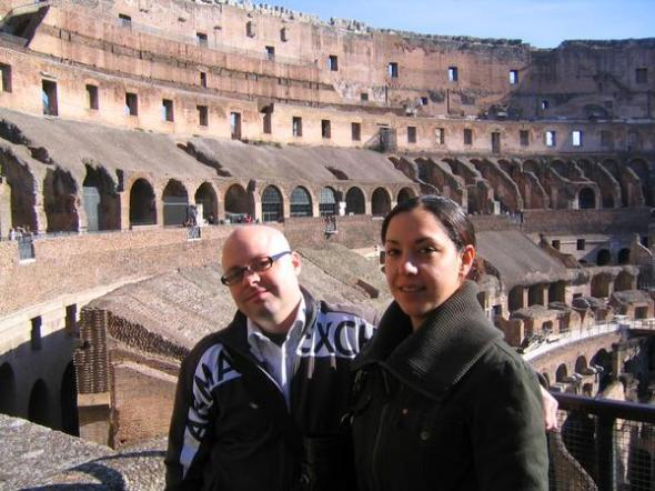 me and josie at the colosseum being fantastico.