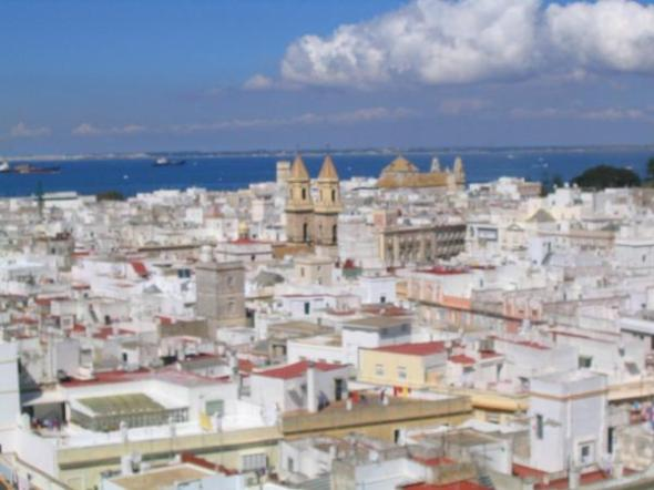 cadiz from the central cathedral.