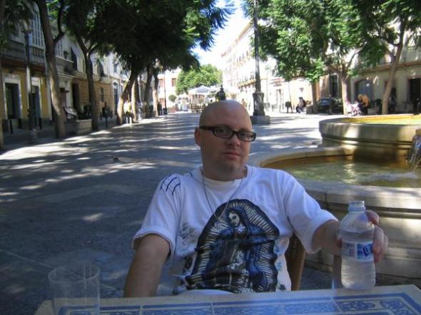 in cadiz relaxing in the shade.