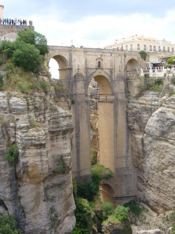 the great bridge of rhonda. they threw heretics from this bridge during the inquisition.