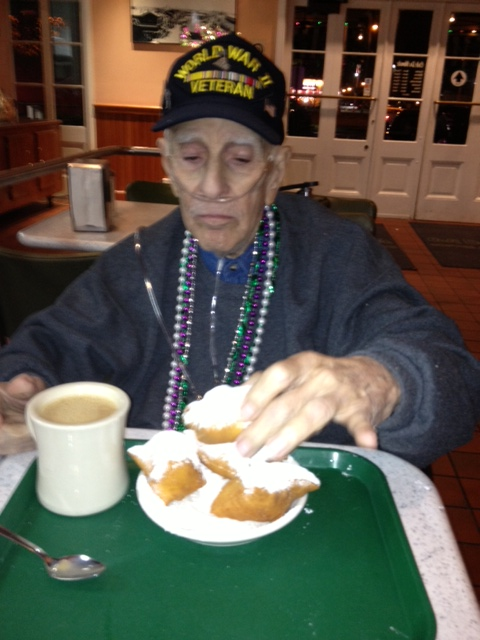 Paw-Paw housing some beignets