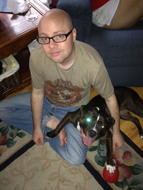 me and muh' boy. wimminz are powerless aginast him and his LAZER eye. pew pew pew.
