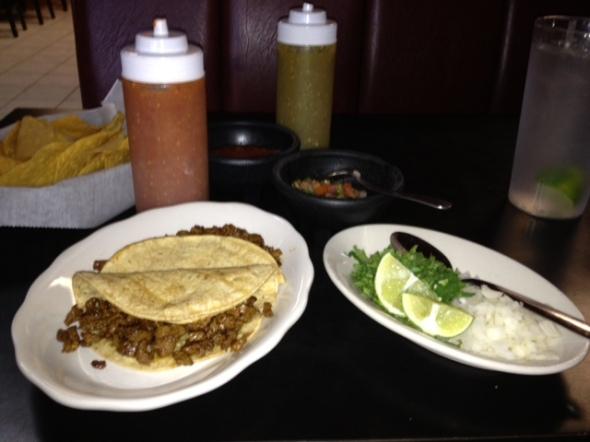 tacos de carne asada. my reward for being awesome.