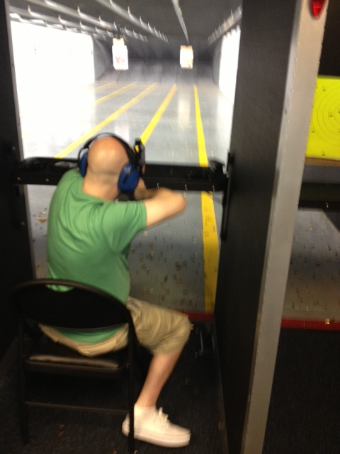 me shooting the beretta storm