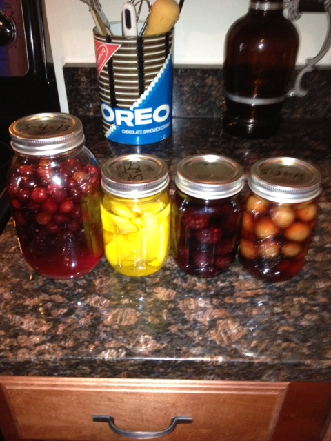 cranberry, mango, blackberry, and cherry.
