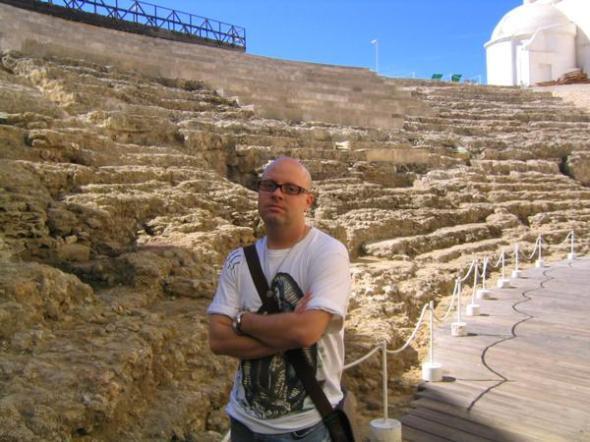 the roman theater in cadiz, spain