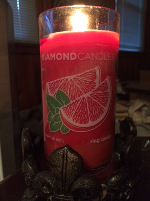 my grapefruit ring candle. who's ready to rub their cock on my face?
